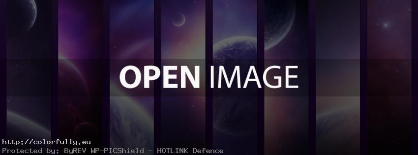 Purple universe planets – Facebook cover