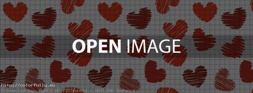 Red hearts – Facebook cover