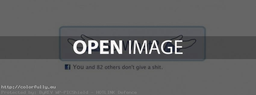 So what? You and 82 others don't give a shit – Facebook cover