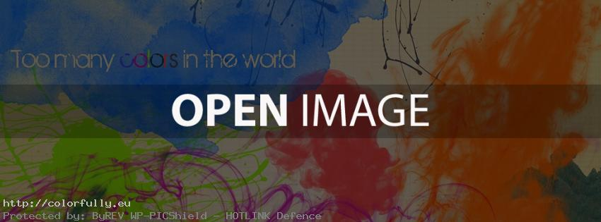 Too many colors in the world – Facebook cover