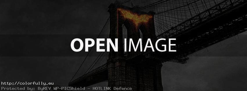 Batman sign in fire – Facebook cover