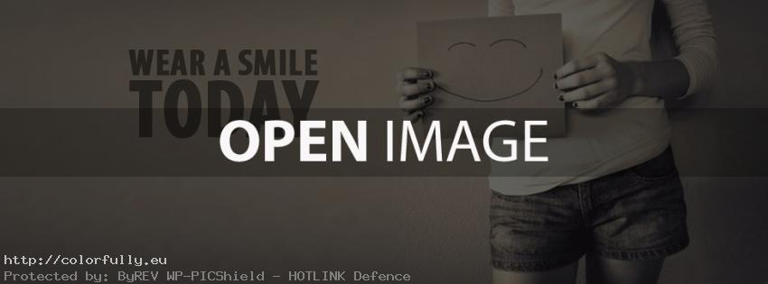 Wear a smile today – Facebook cover