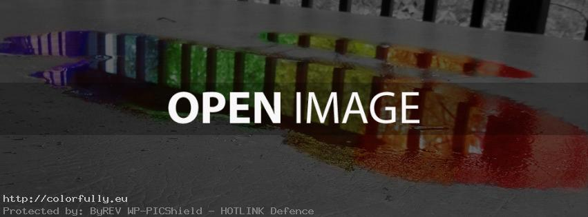 Colorful puddle water – Facebook cover