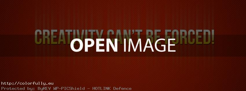 Creativity can't be forced – Facebook cover