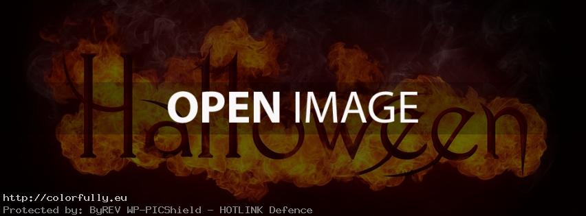 Halloween in fire – Facebook cover