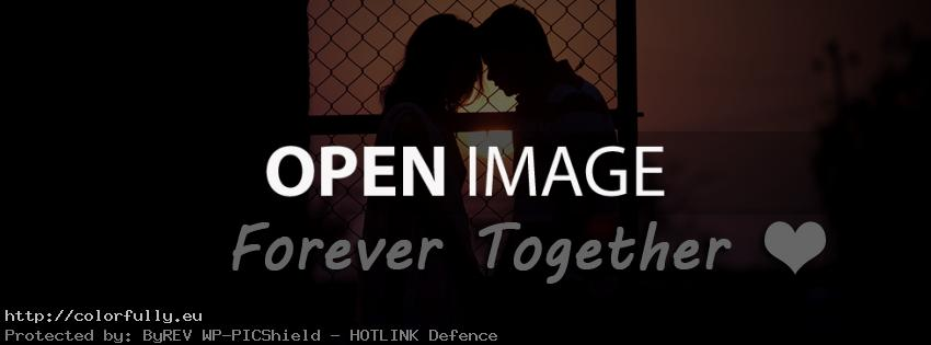 Forever together – couple in love – Facebook cover