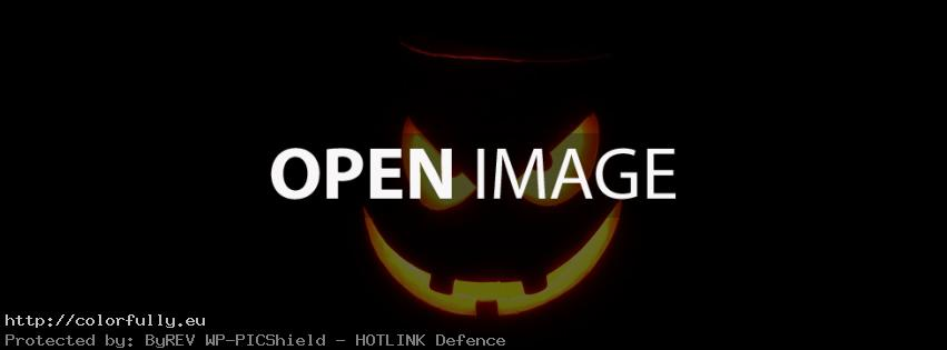 Halloween scary pumpkin – Facebook cover