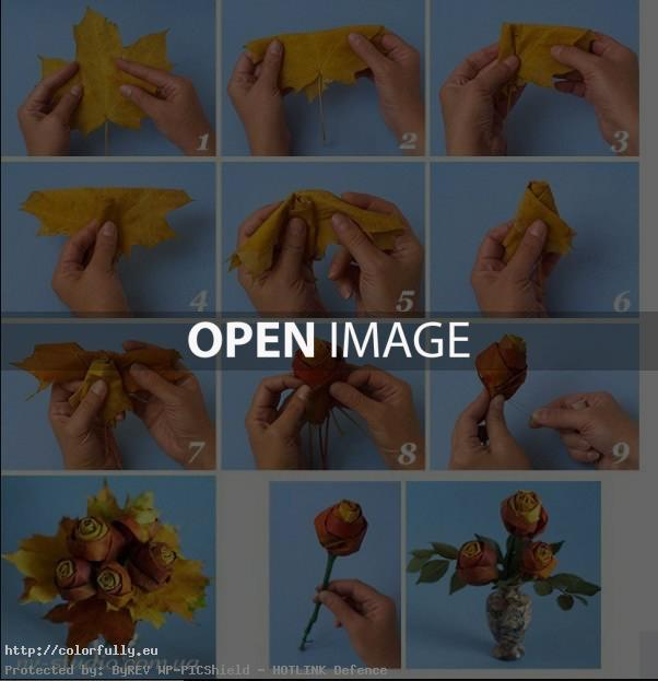 How to make a rose from a leaf – DIY