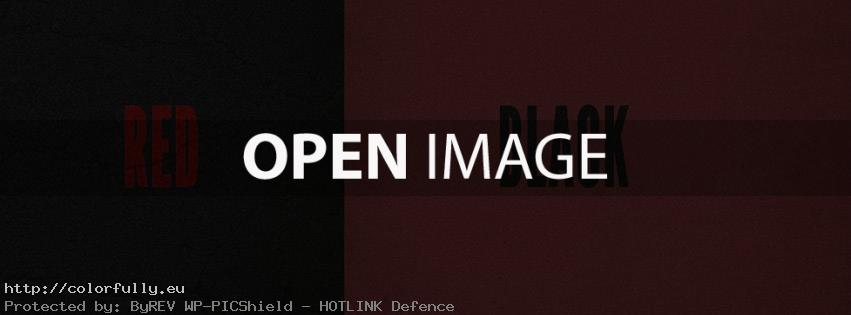 Red & Black – Facebook cover