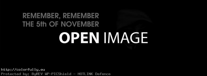 Remember, remember the 5th of November – Anonymous Facebook cover