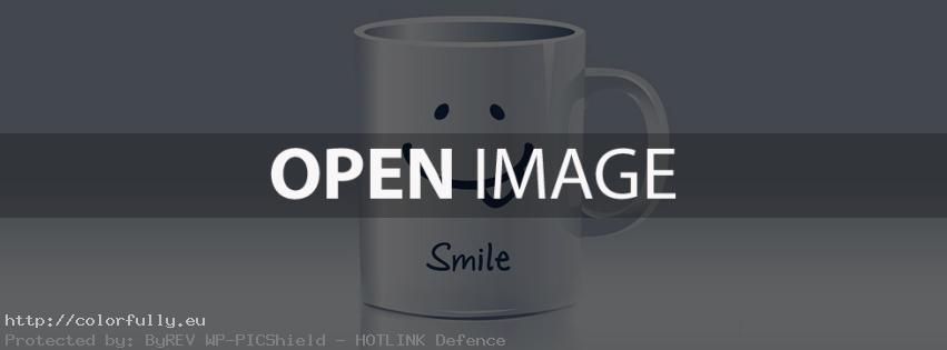 Smile cup – Facebook cover