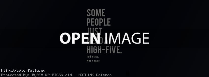 Some poeple just need a high five in the face with a chair – Facebook cover