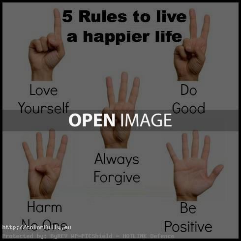 5 rules to live happier life