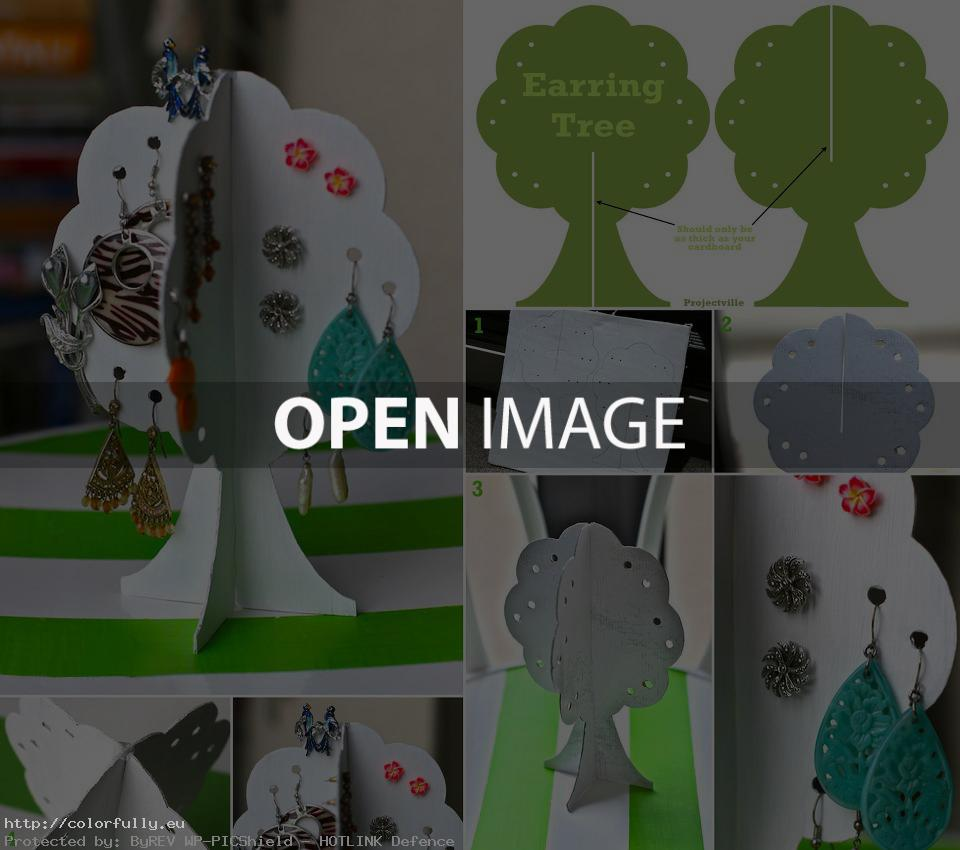 DIY – Earring storage tree