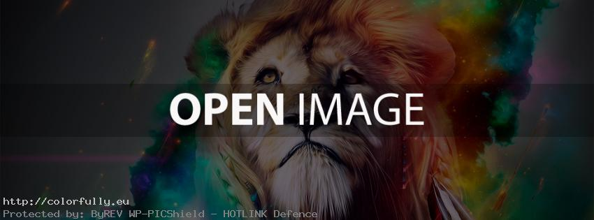 Abstract lion picture - Facebook cover