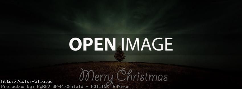 Holiday Christmas tree - Facebook cover