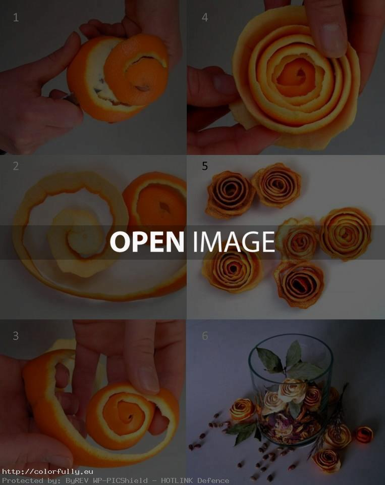 How to make roses from orange peel – DIY