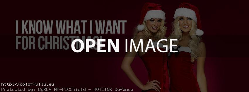 I know what I want for Christmas – Santa girls – Facebook cover