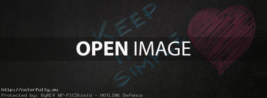 Keep it simple – Facebook cover
