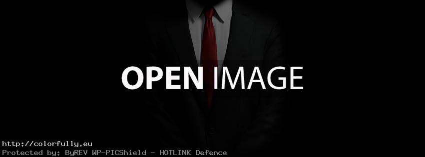Men in black suit – Facebook cover