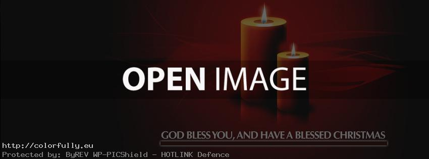 Merry blessed Christmas – Facebook cover