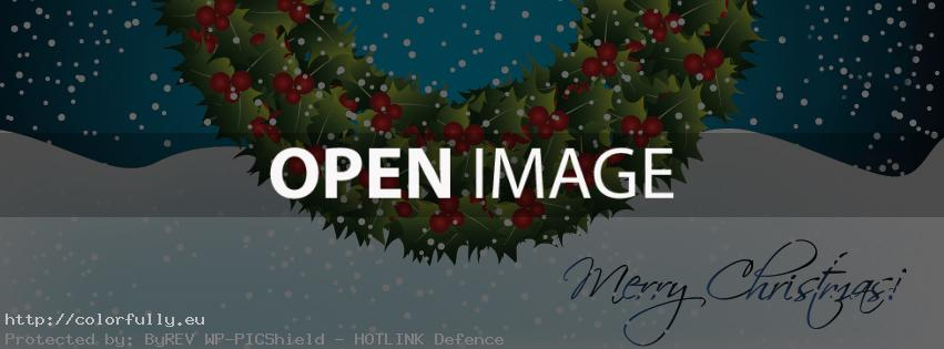 Merry Christmas wreath \u2013 Facebook cover \u2013 Colorfully