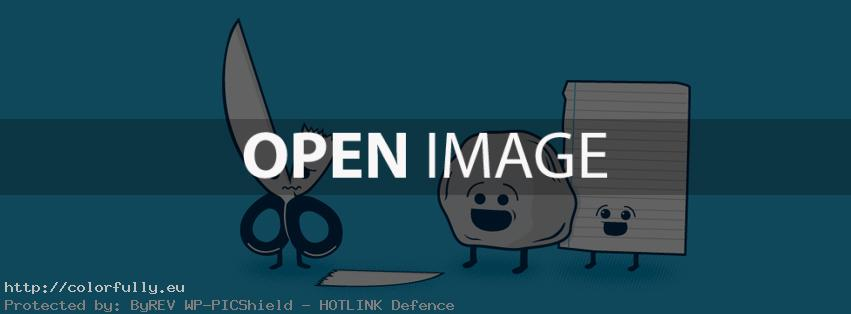 Rock, paper, scissors – Facebook cover