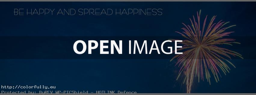 Be happy and spread happiness – Facebook cover