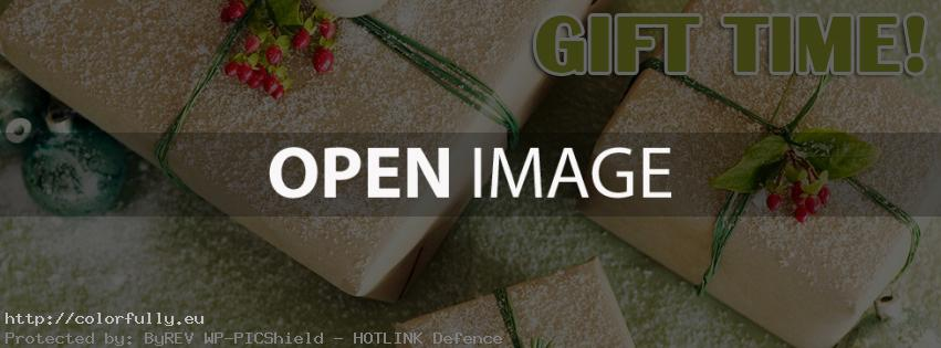 Christmas gift time – Facebook cover