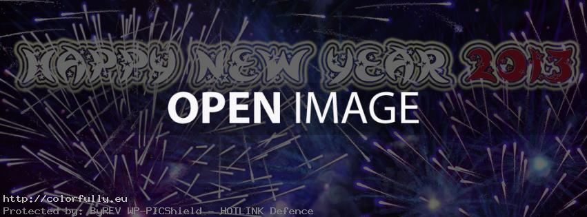 Happy New Year 2013 – Facebook cover