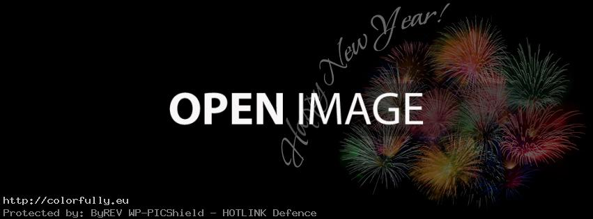 Happy New Year Fireworks – Facebook cover