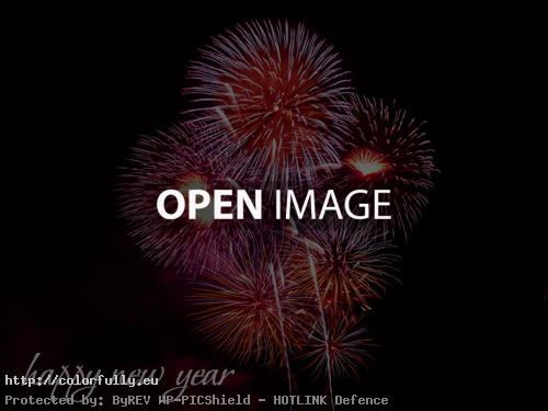 Happy New Year Fireworks Picture Greetings