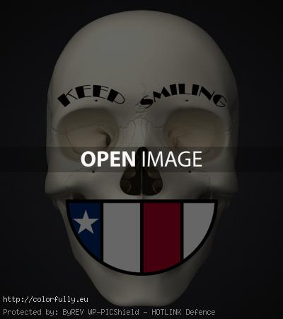 skull «Keep Smiling» of biker