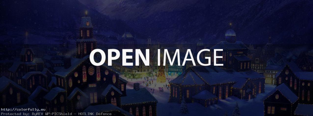 Snowy Christmas night – Facebook cover
