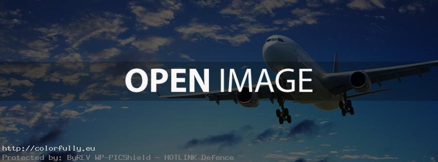 Airplane in the sky – Facebook cover!