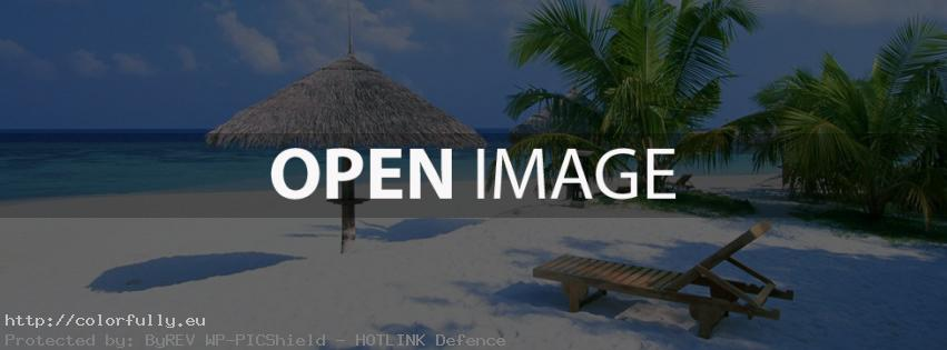 Tropical beach – Facebook cover