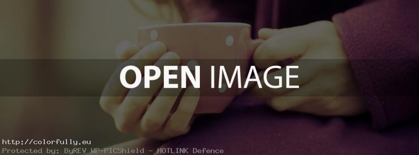 Coffee cup in hands – Facebook cover