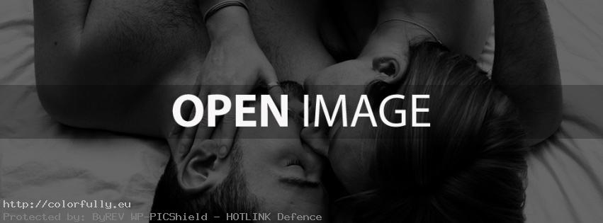 Couple kissing in bed – Facebook cover
