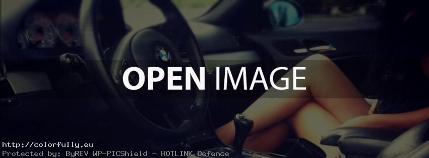 A girl in BMW auto – Facebook cover