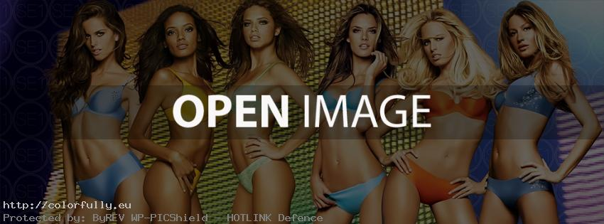 Victoria Secret swimwear angels – Facebook cover