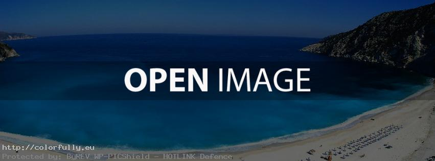 Blue greek beach - Facebook cover