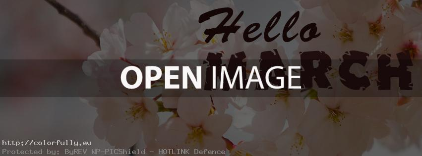 Hello March - Facebook cover
