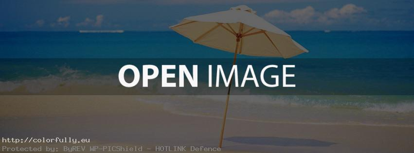 Umbrella on beach – Facebook cover