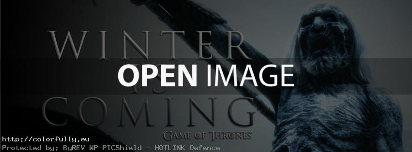 Winter is coming – Facebook cover