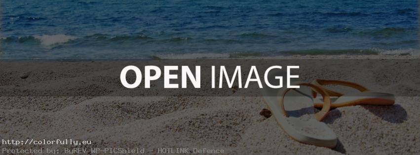 Flip flops on the beach – Facebook cover