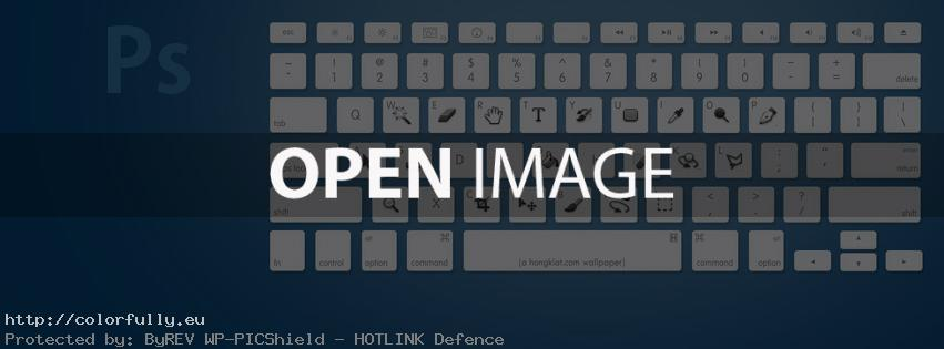 Photoshop Keyboard - Facebook cover