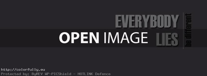 Everybody lies – Facebook cover