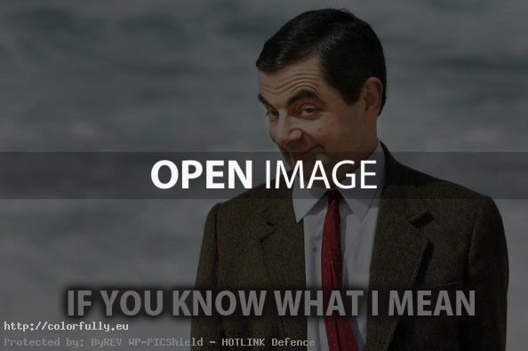 If you know what I mean – Mr. Bean