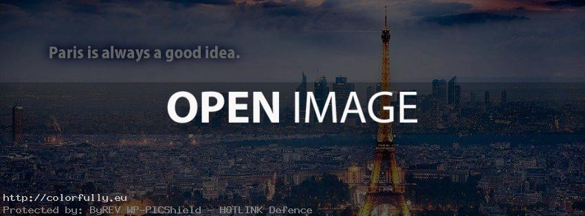 Paris is always a good idea – Facebook cover