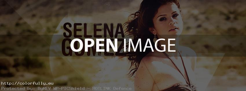 Selena Gomez – Facebook cover